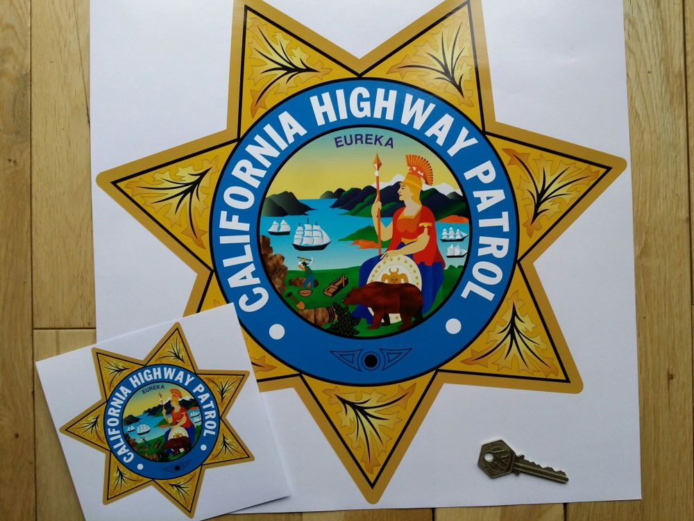 California Highway Patrol Star Shield Car Sticker 14 Quot