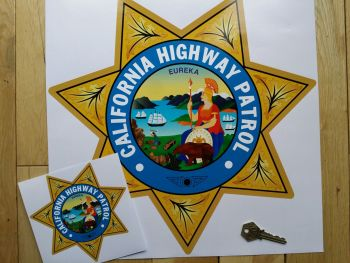 "California Highway Patrol Star Shield Car Sticker. 14""."