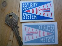 Unipart Car Security System Warning Sticker. 2
