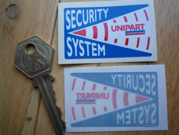 "Unipart Car Security System Warning Sticker. 2""."