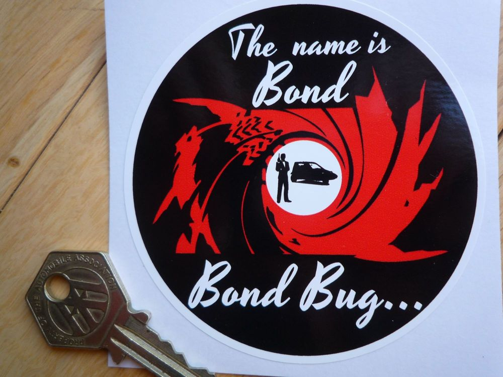 Bond Bug, The name is Bond, Sticker. 85mm.