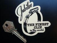 """Jubilee 'The Finest Clip' Shaped Sticker. 3""""."""