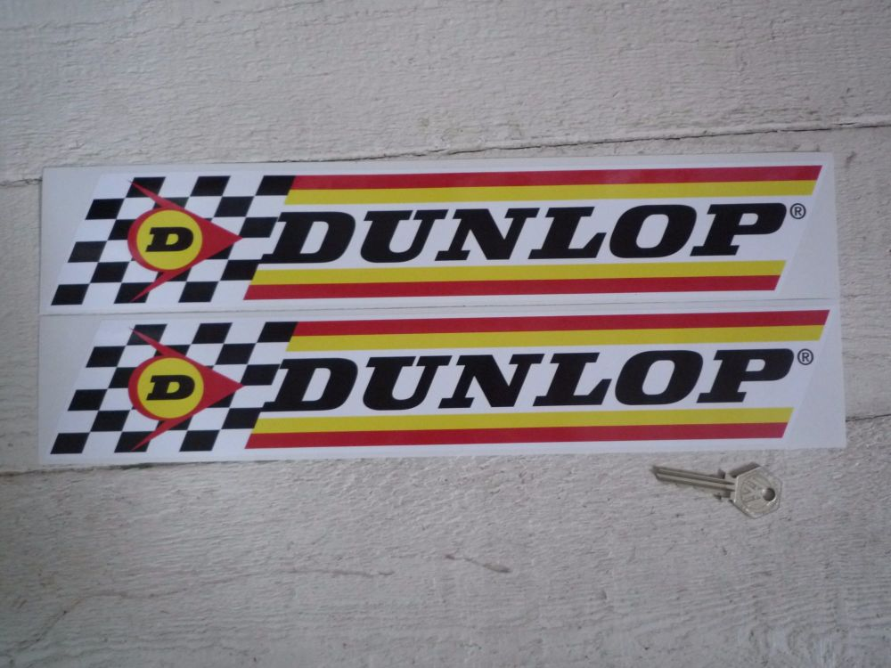 "Dunlop Check & Stripes Stickers. 16"", 18"", or 24"" Pair."