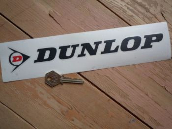 "Dunlop Cut Letters & Red 'D' Logo Stickers. 18"" Pair."