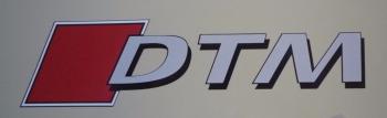 "DTM Printed & Cut Text Sticker. 16""."