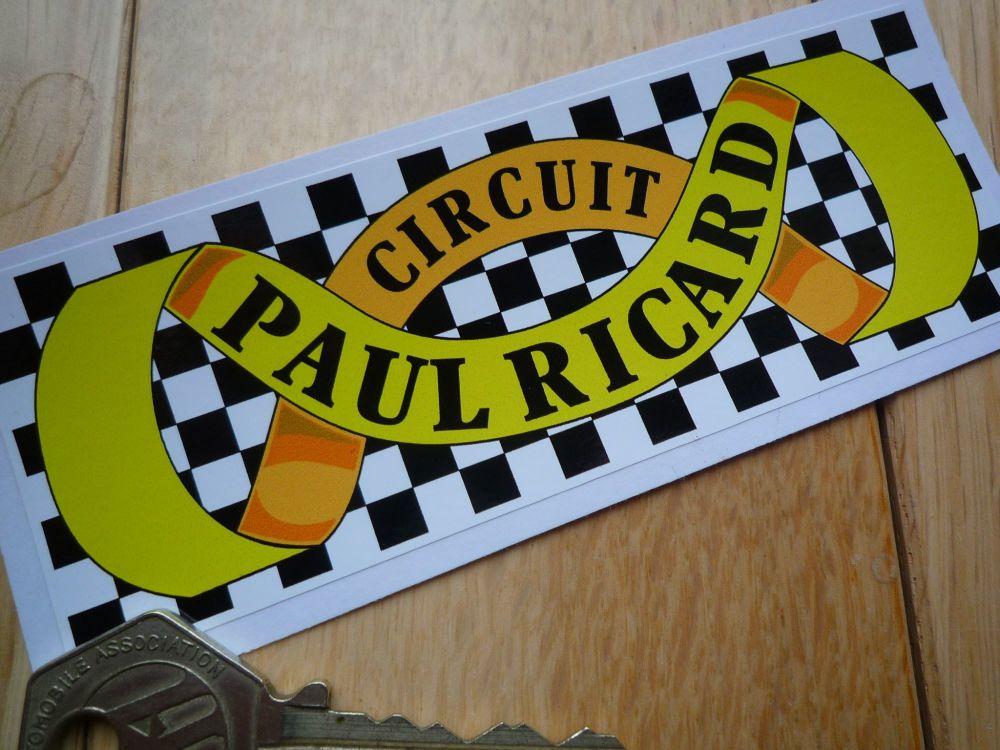 "Circuit Paul Ricard Scroll & Chequered Circuit Sticker. 5""."