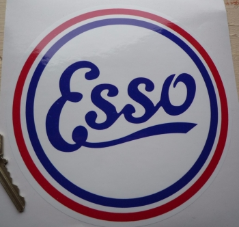 "Esso Old Style Round Sticker. 10"" or 12""."