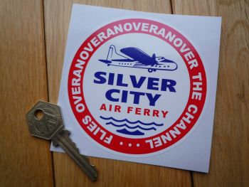 Silver City Airlines Air Ferry Circular Logo Sticker. 95mm.