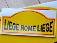 Liege Rome Liege Rallye Rally Plate Style Sticker. 6