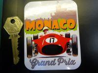 Monaco Grand Prix 1950's Style Circuit Sticker. 90mm.