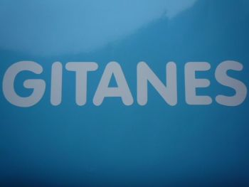 "Gitanes French Cigarette White Cut Vinyl Sticker. 27""."