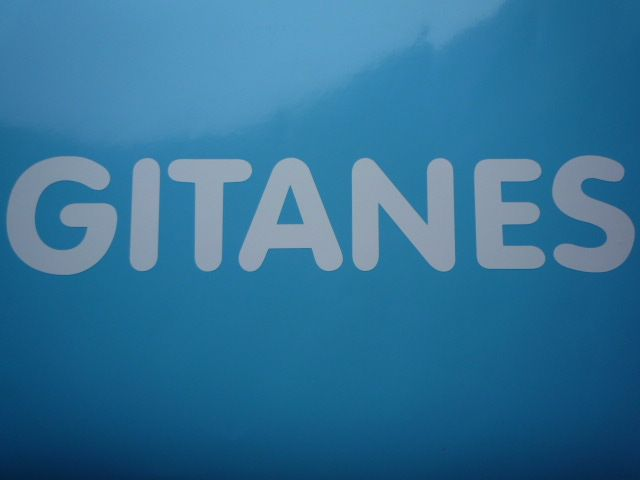 """Gitanes French Cigarette White Cut Vinyl Sticker. 27""""."""