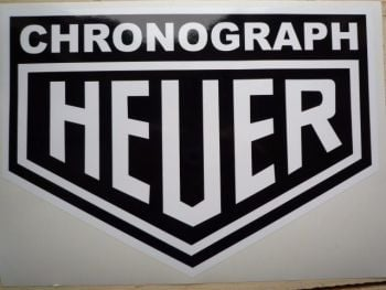 "Chronograph Heuer Sticker. 12""."