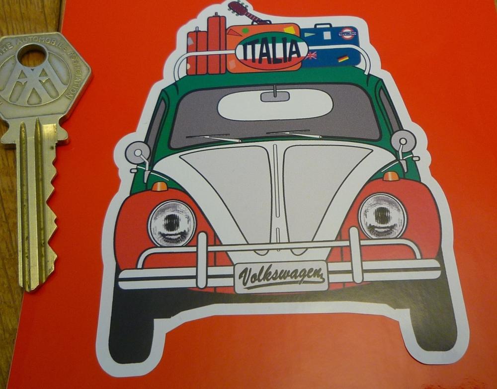 "Italia Italy Volkswagen Beetle Travel Sticker. 3.5"""