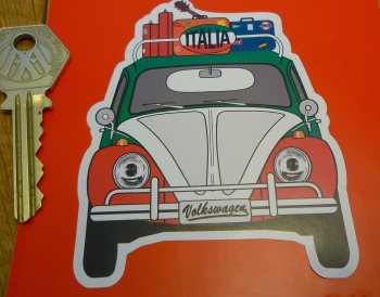 Italia Italy Volkswagen Beetle Travel Sticker. 3.5""