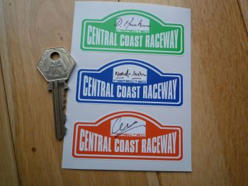 "Central Coast Raceway Scrutineers Stickers. 3"". Set of 3."