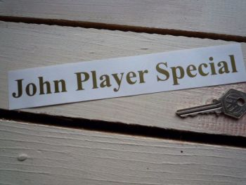 "John Player Special Cut Text Sticker. 8""."