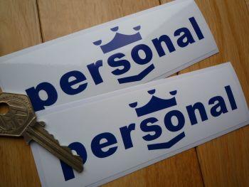"Nardi Personal Oblong F1 Ferrari Style Stickers. 6"" Pair."