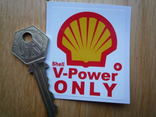 Shell V POWER ONLY Fuel Filler Flap Sticker.