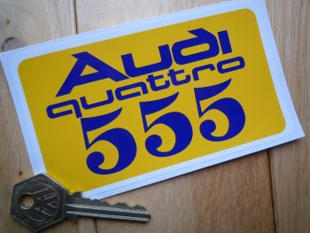 "Audi Quattro State Express 555 Rally Sticker. 5""."