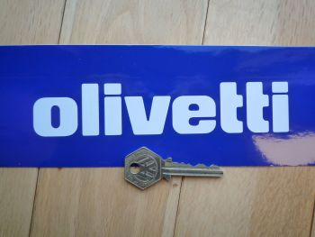 "Olivetti Cut Text Sticker. 6""."
