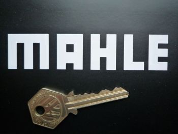"Mahle Pistons Cut Text Stickers. 4"" or 7"" Pair."