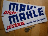 Mahle Pistons Blue, Red & White Printed Stickers. 8.75