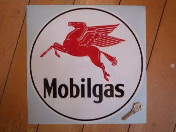 "Mobil Mobilgas Circular Sticker. 12""."