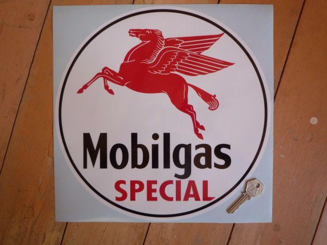 "MOBIL Mobilgas Special Circular Sticker. 12""."