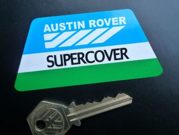 "Austin Rover Supercover Sticker. 3.5""."