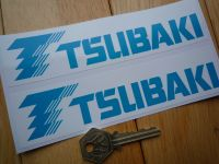 Tsubaki Blue & White Oblong Stickers. 6.5