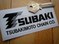 Tsubaki TsubakiMoto Chain Co. Black & White Oblong Sticker. 4.5
