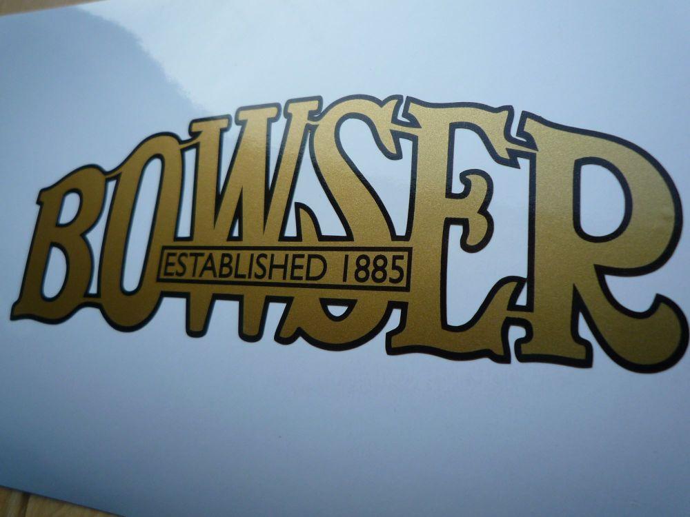 "Bowser Cut Vinyl Petrol Pump Sticker. Various Colours. 5"" or 9""."