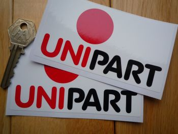 "Unipart 'Red Dot' Style Oblong Stickers. 4"" Pair."