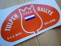Tulip Rally Tulpenrallye 1963 Orange Rally Plate Sticker. 6