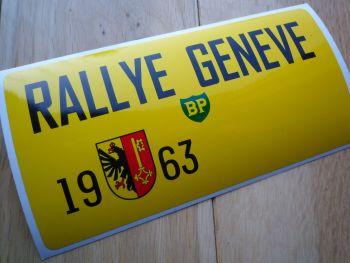 "Rallye Geneve 1963 Oblong Rally Plate Sticker. 6""."