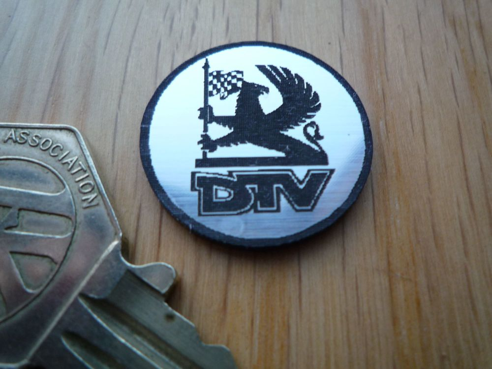 DTV Logo Style Self Adhesive Laser Car Badge. 25mm.