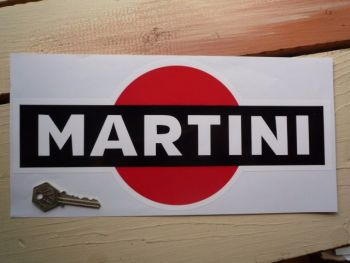 "Martini Logo Sticker. Black. 8"", 10"", or 12""."