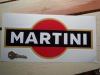 Martini Logo Sticker. Black with Gold Band. 8