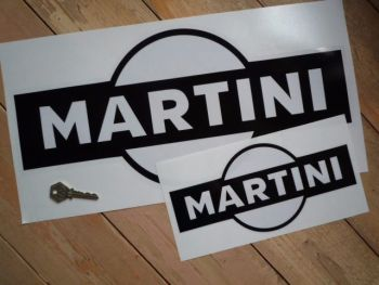 "Martini Black & Clear Sticker. 18""."
