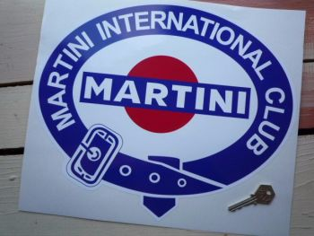 "Martini International Club. Belted Logo without Gold Sticker. 13.5""."