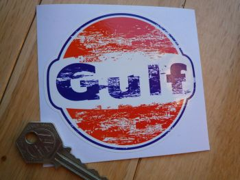 "Gulf Worn & Distressed Look Stickers. 4"" or 6"" Pair."
