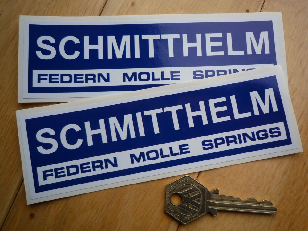 Schmitthelm Blue & White  Oblong Stickers. 6