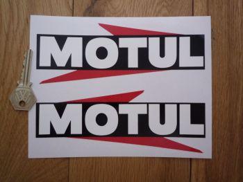 "Motul Arrowed Text Stickers. 14"" Pair."