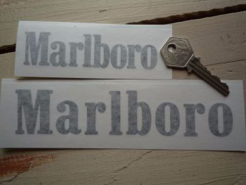 "Marlboro Cut Text Style A Sticker. 4"" or 6.5""."