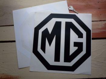 "MG Cut Vinyl Octagon Logo Sticker. 12""."