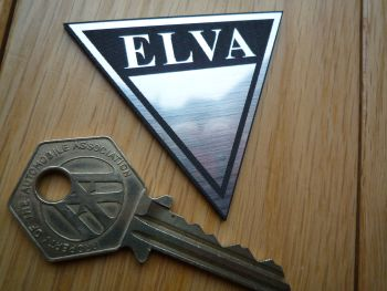 "Elva Self Adhesive Car Badge. 2""."