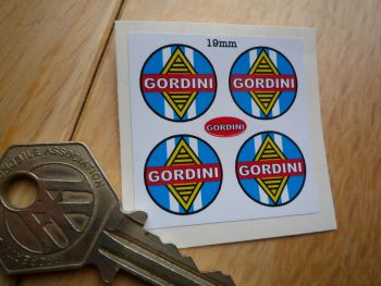 Renault Gordini Small Round Stickers. Set of 4. 19mm.