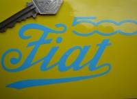 "Fiat 500 Cut Text Stickers. Various Colours. 5"" Pair."