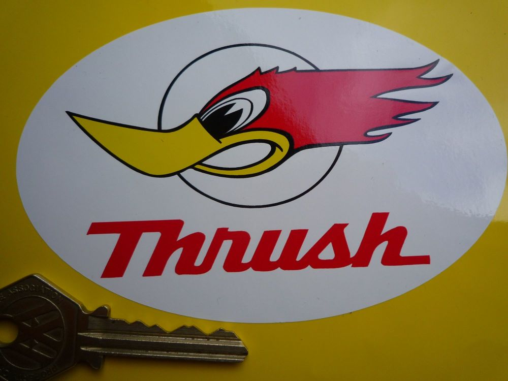 "Thrush Oval Sticker. 5""."